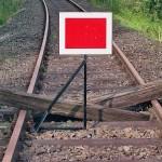 Ende der Eisenbahnstrecke